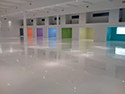 Large Interior with White Epoxy Flooring