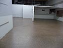 Underground Garage with Epoxy Flake Floors