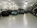 Vehicle Storage Area with Roll On Rock Flake Epoxy