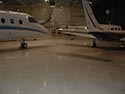 Airplane Hangar with Epoxy Concrete Coating