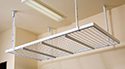 Single 8 X 4 Ceiling Rack White (single unit plus shipping)