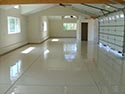 White Coated Residential Garage