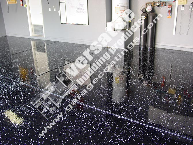 black garage floor coating example