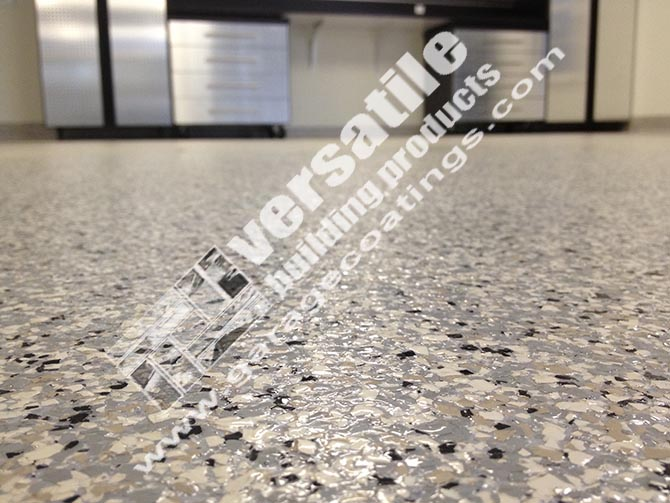 detailed epoxy garage floor