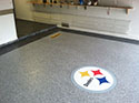 Steelers Themed Garage Flooring