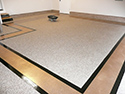 Gold and White Garage Flooring Design